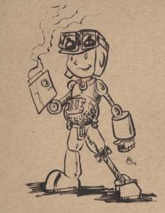 Steam Punk Iron Man pot belly