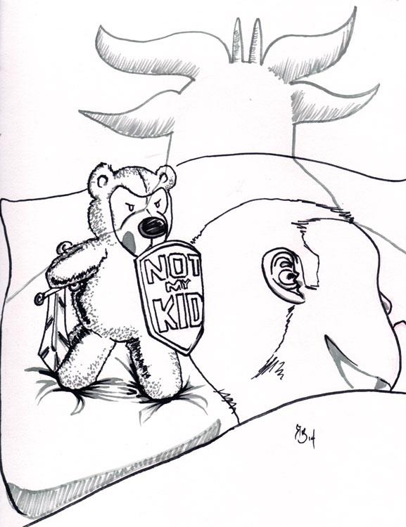 Teddy-Bear-protects-kid