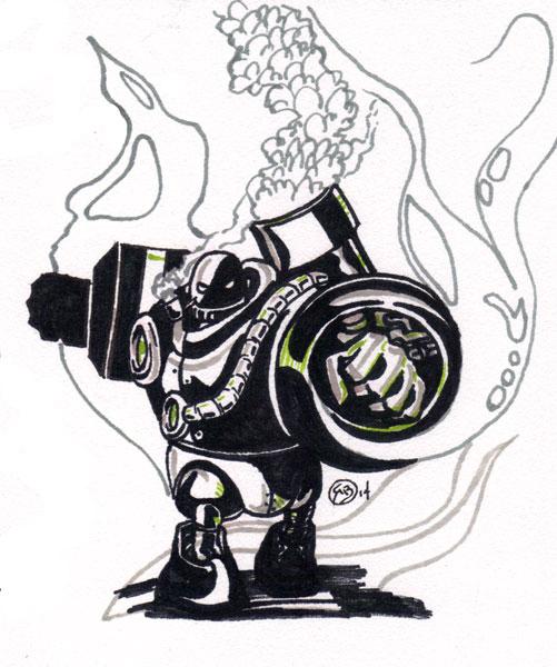 Steam-Punk-Robot