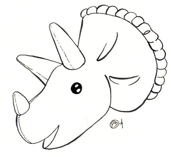 Triceratops-Head