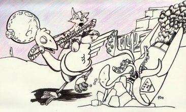 Fox-Ostrich-Rocket-Baby