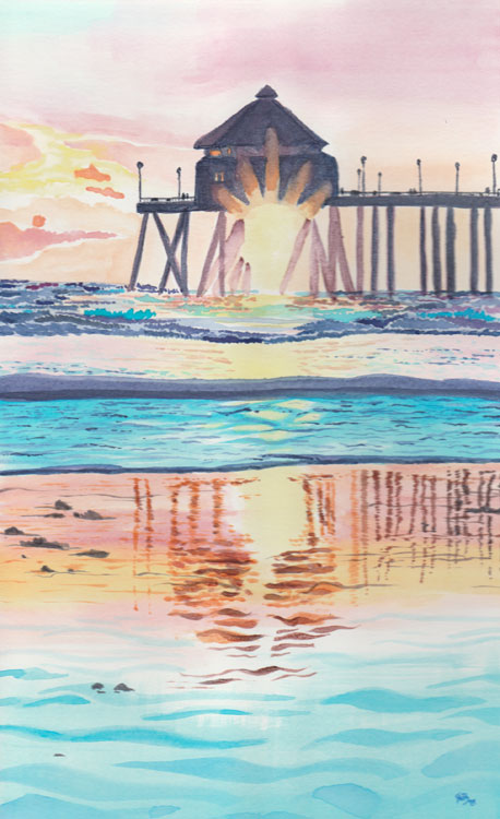 Beach-Water-color