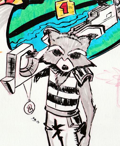 Rocket-Raccoon-Inktober-2